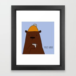 Cold bear Framed Art Print