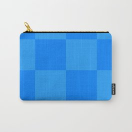 Blue 2 Tone Pattern Carry-All Pouch