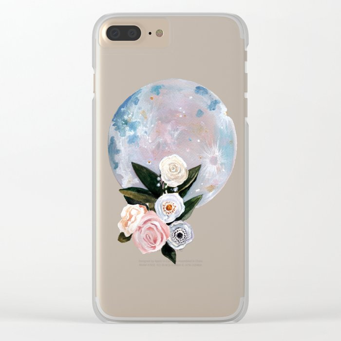 Opal Moon Clear iPhone Case
