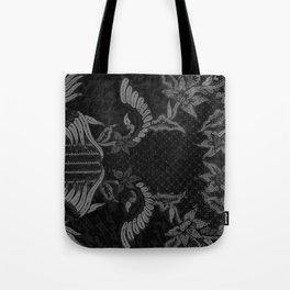 Bali Batik black grey Tote Bag