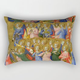 """Fra Angelico (Guido di Pietro) """"Fiesole Altarpiece - Christ Glorified in the Court of Heaven"""" 3 Rectangular Pillow"""