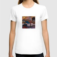 oriental T-shirts featuring Oriental Houses  by  Rose Voutsas