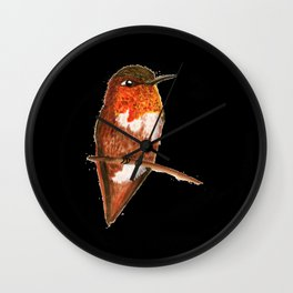 Allen's Hummingbird Wall Clock