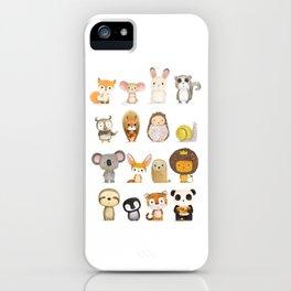 Mr. Lion, Mr. Squirrel & Their Friends iPhone Case