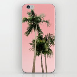 Palm Trees on Pink Wall iPhone Skin