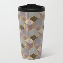 The Cube and the Yellow Light Travel Mug