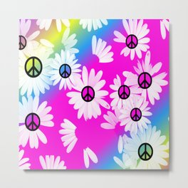 Flower Power Hippie Metal Print