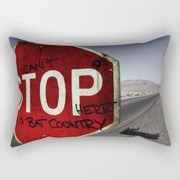 This is Bat Country Rectangular Pillow
