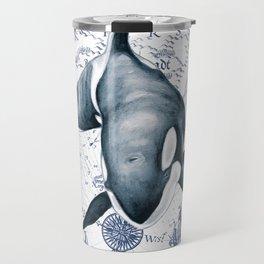 Orca Ancient Map Travel Mug