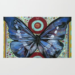 """Big Blue Butterfly"" copyright Ray Stephenson 2013 Rug"