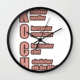 Chef Creative Charming Hero of Work Gift Wall Clock