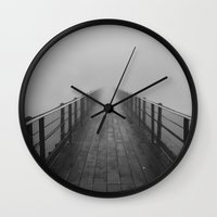 silent hill Wall Clocks featuring silent hill by Camila Cornelsen
