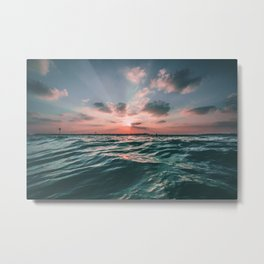 Deep Green Float Metal Print