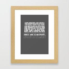Bob Dylan song Framed Art Print
