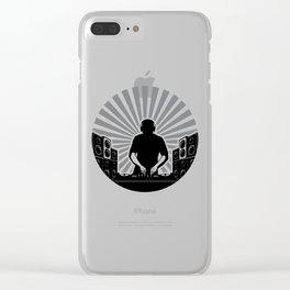Sunburst DJ DeeJays Clubbing Turntables Music BLACK Clear iPhone Case