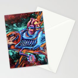 """""""The Crucifixion of a Writer"""" Painting Stationery Cards"""