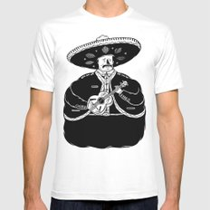 The Fat Mariachi MEDIUM Mens Fitted Tee White