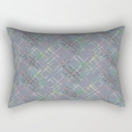 Gray checkered pattern. Rectangular Pillow