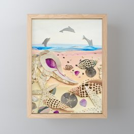 Junonia Shell Beach Framed Mini Art Print