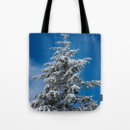 Winter Forest Fir Tree Snow IX - Nature Photography Tote Bag