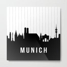 Munich Skyline Metal Print