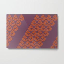 Orange Drops Metal Print