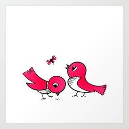 Cute little birds Art Print