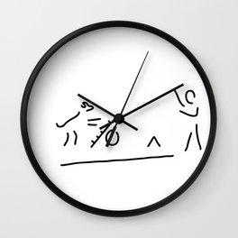 agility dog sport dog Wall Clock