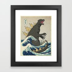 The Great Godzilla off Kanagawa Framed Art Print
