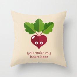 You Make My Heart Beet Throw Pillow