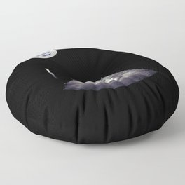 Alien on board - Ultrasound - badge variant Floor Pillow