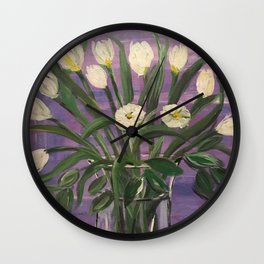 Dutch Tulips in Spring Wall Clock