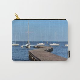 Zig Zag Wooden Pier Carry-All Pouch