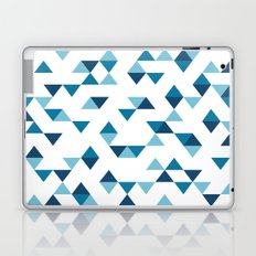 Triangles Blue Laptop & iPad Skin