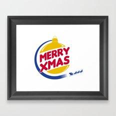 Burger Xmas Framed Art Print