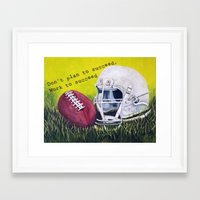 football Framed Art Prints featuring Football by A Calcines