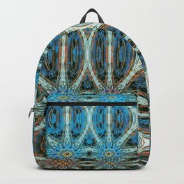 Turquoise Weave Backpack