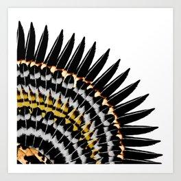 Feather Fringe Art Print