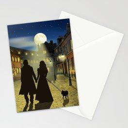 Romantic evening walk Stationery Cards