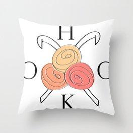 HOOK crochet  Throw Pillow