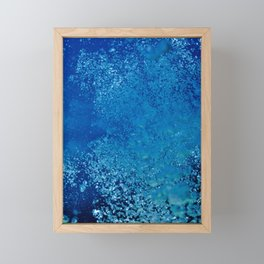 Raising underwater bubbles in the blue sea (another version) Framed Mini Art Print