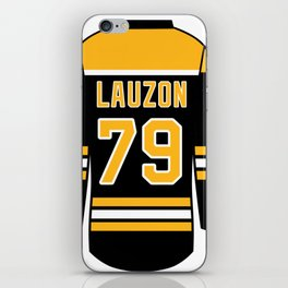 Jeremy Lauzon Jersey iPhone Skin