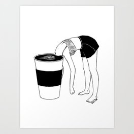 Coffee, First Art Print