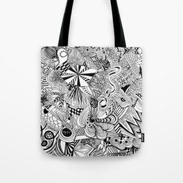 scribble me happy Tote Bag