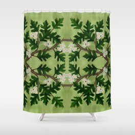 Olwen Hawthorn Panel Shower Curtain
