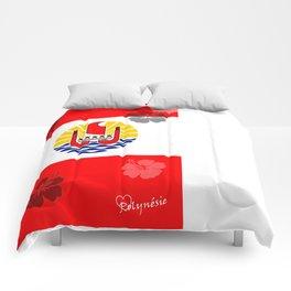 Tahiti flag Comforters