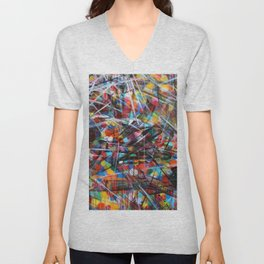 Abstract Street Art Unisex V-Neck