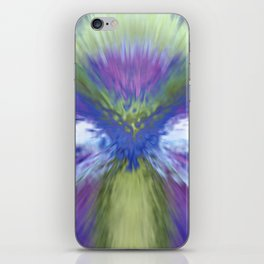 At The Speed of Blue iPhone Skin