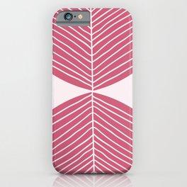 Minimal Fall Leaf - Soft Berry iPhone Case
