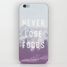 Never Lose Focus iPhone & iPod Skin